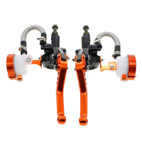 FXCNC Motorcycle Clutch 7/8 Motorcycle Hydraulic Brake Clutch Levers Master Cylinder Brake Motorcycle Lever Parts For 125 600CC
