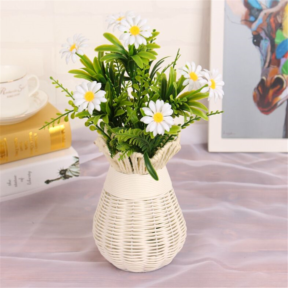2017 1pcs 7fork artificial plastic small daisy flower plants floral 2017 1pcs 7fork artificial plastic small daisy flower plants floral decor fake leaves simulation small plant home garden decor in artificial dried flowers izmirmasajfo