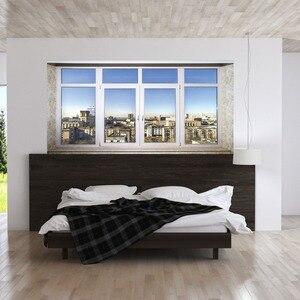 Image 3 - Stadt stadt Sinn Bett Kopf Aufkleber Gefälschte Weiß Glas Fenster Wand Aufkleber Kreative Kunst Wand Aufkleber Kunst Wand Aufkleber Hause decor