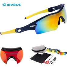 RIVBOS Oculos Ciclismo Tactical Cycling Glasses Eyewear Gafas Ciclismo Bicycle Bike Sports Cycling Sunglasses Men Women RB0805