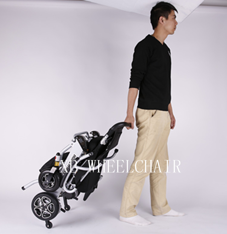 Aluminum alloy folding power electric wheelchair with small wheel