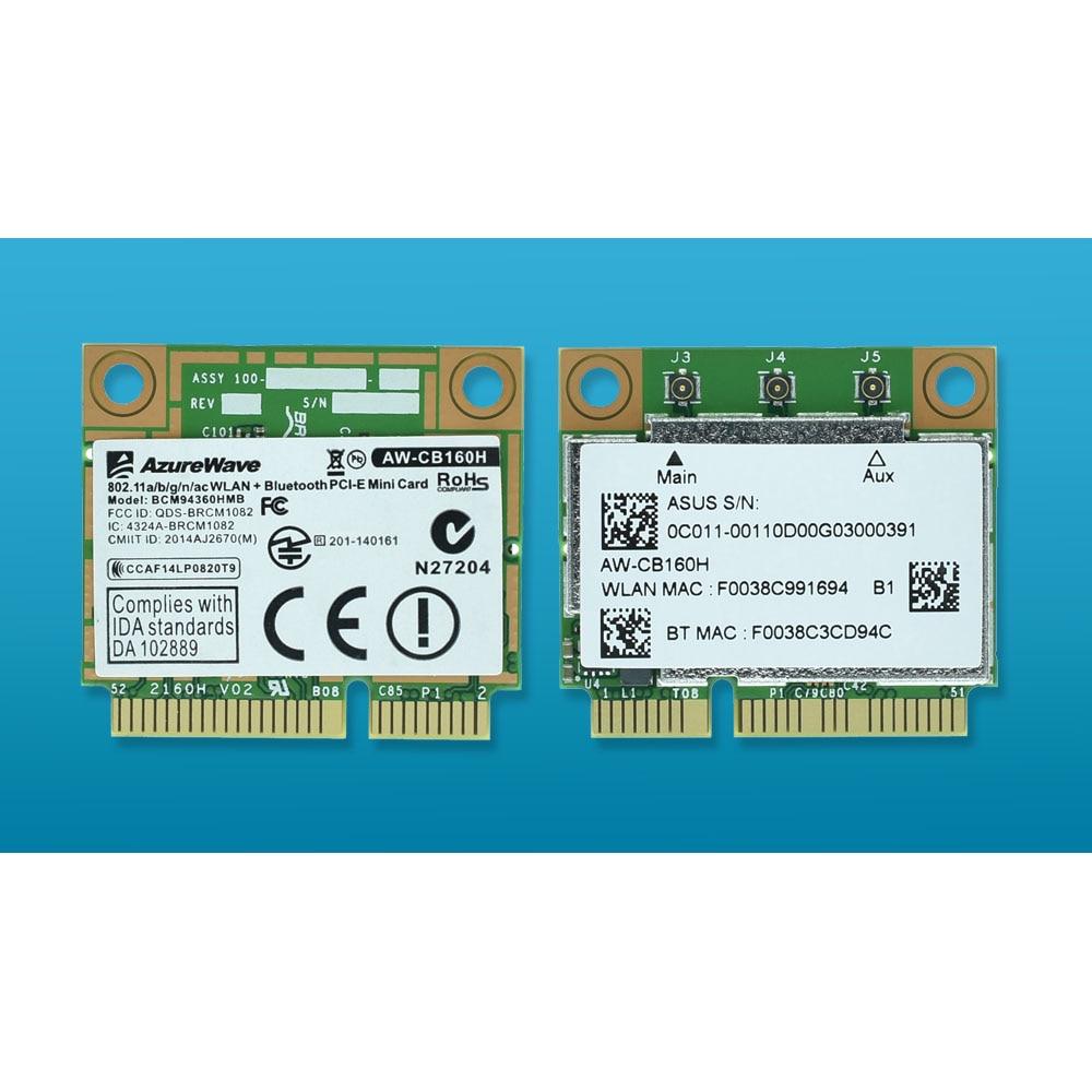 BCM94360HMB 802.11ac 1300 M Double-bande 3x3 AC Bluetooth 4.0 WiFi Carte Réseau mieux que BCM94352HMB