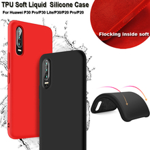 For Huawei P30 Pro Soft Silicone Case for Shockproof Liquid TPU Cover P20 Lite Fitted