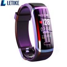 Letike GT101 Smart watch men Bracelet real time monitor heart rate & sleeping best Couple Fitness Tracker pink fit women