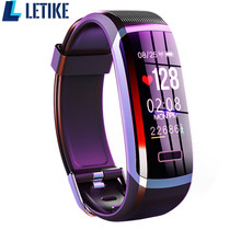 Letike reloj inteligente GT101 para hombre y mujer, pulsera con control del ritmo cardíaco y del sueño en tiempo real, color rosa
