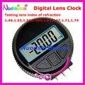 E2706 Digital Relógio aparelho radiano Curva testes índice de refração da lente 1.49, 1.53, 1.56, 1.599, 1.61, 1.67, 1.71, 1.74