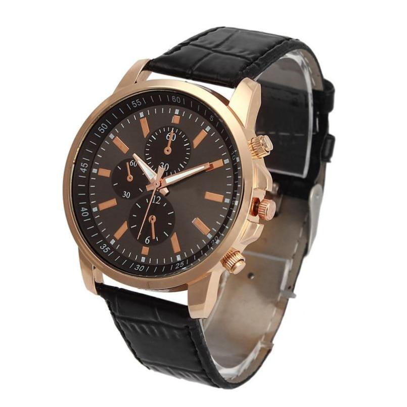 Excellent Quality OTOKY Luxury Quartz Watches Mens Fashion Geneva Quartz Clock Leather Strap Wristwatches Relogio Masculino