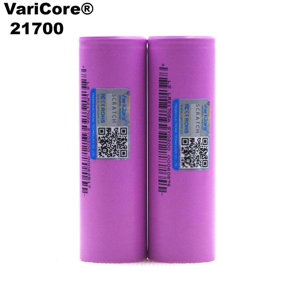 4PCS VariCore 21700 Rechargeable Li-Ion Battery 4000mAh 3.7 V 15A Power 5C Discharge 3-Cell Lithium Batt