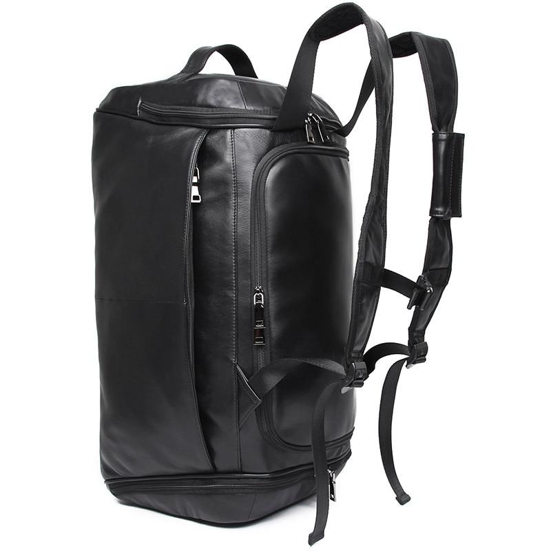 J.M.D Mens Leather Travel Bag Vintage Duffle Handbags Large Men Business Luggage Bag With Shoulder Strap Bagpack X-6010AJ.M.D Mens Leather Travel Bag Vintage Duffle Handbags Large Men Business Luggage Bag With Shoulder Strap Bagpack X-6010A