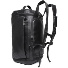 цена на J.M.D Mens Leather Travel Bag Vintage Duffle Handbags Large Men Business Luggage Bag With Shoulder Strap Bagpack X-6010A