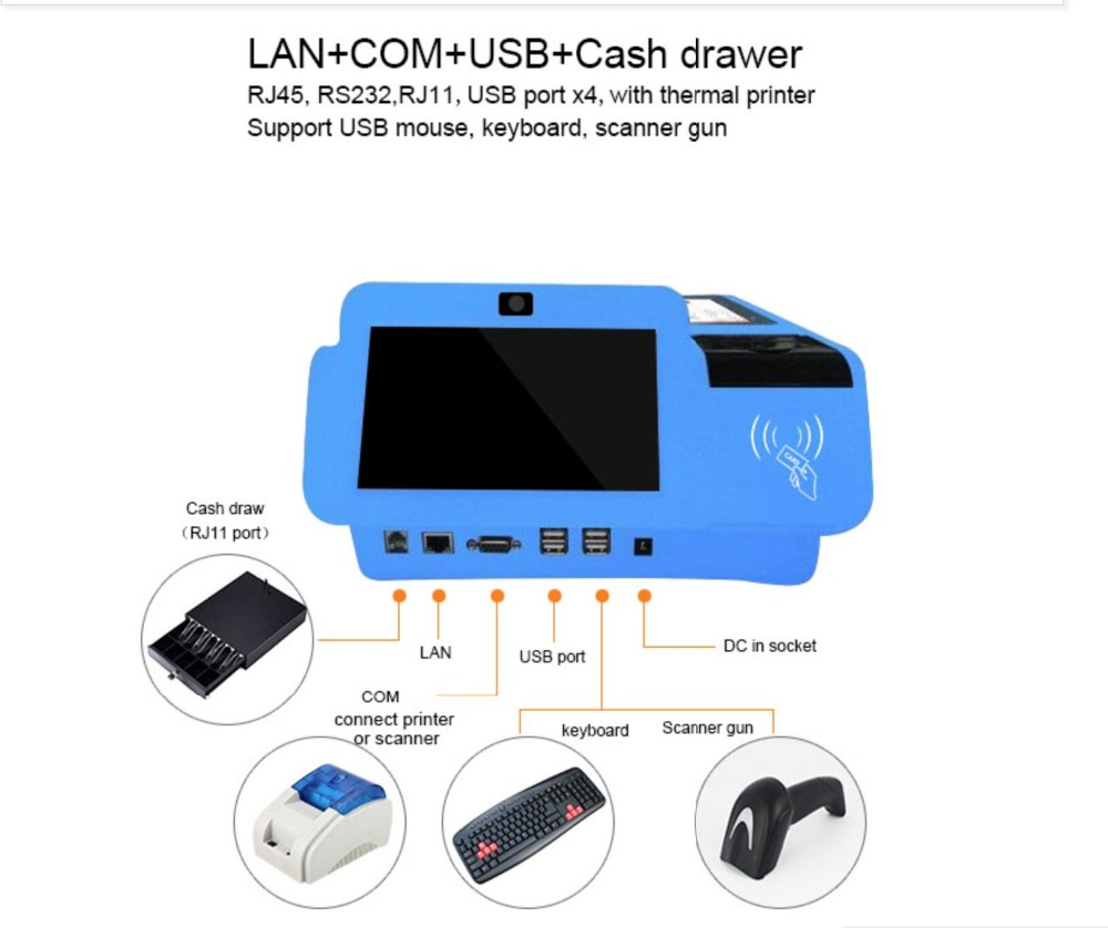 9.7 inch All in One Android POS Terminal Machine, Android Touch POS System with Printer, Cheap pos system9.7 inch All in One Android POS Terminal Machine, Android Touch POS System with Printer, Cheap pos system