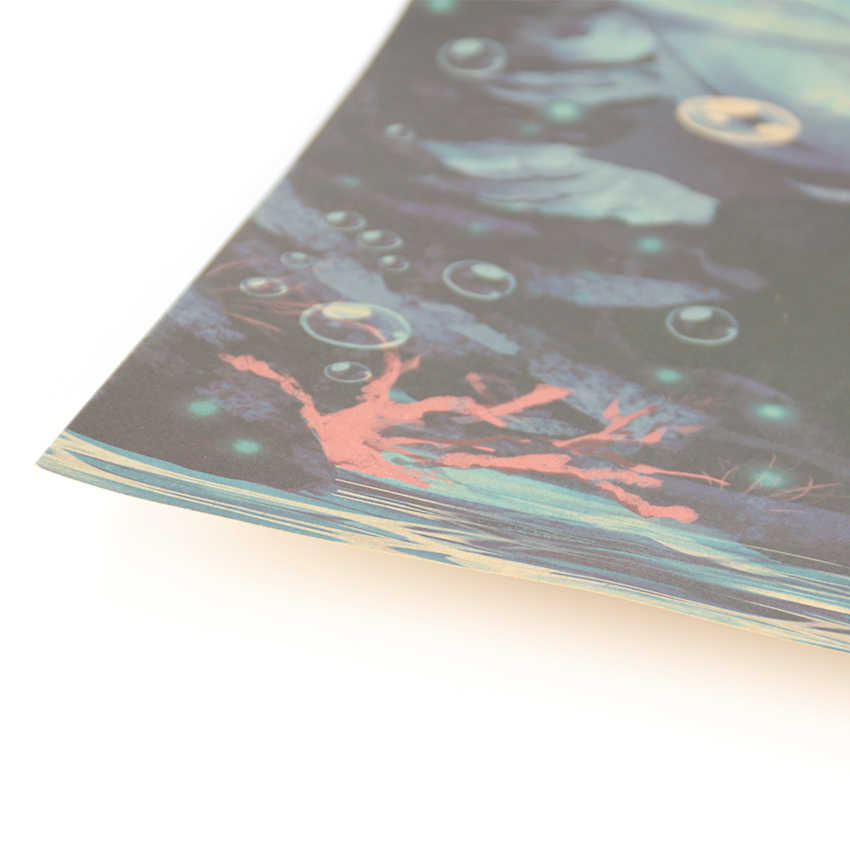 Галстук Лер мультфильм комикс Хацунэ Мику музыка B стиль крафт бумага плакат баров Кафе Декор Живопись стикер стены 51x36 см