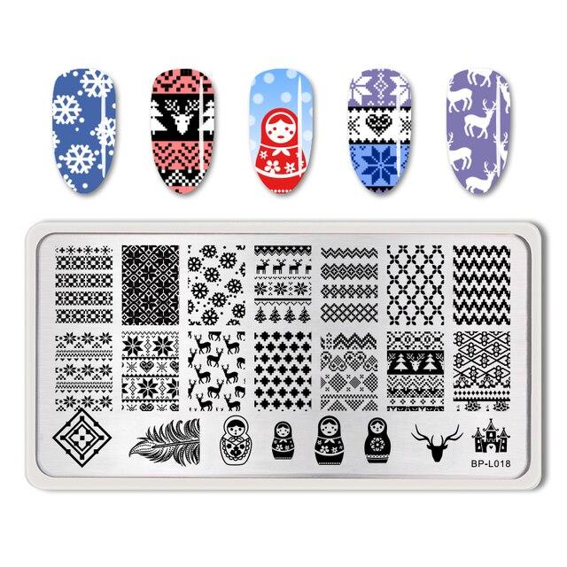 Urodzony dość szablon do zdobienia paznokci obraz płyta śliczne rosyjskie lalki wzór płytki do tłoczenia paznokci manicure do ozdabiania paznokci BP-L018