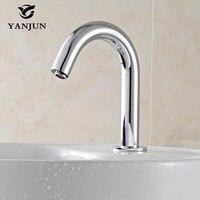 Yanjun Automatic Faucet Inductive Hands Free Sensor Tap Water Saving Hospital Bathroom Public Sanitaryware YJ 6616