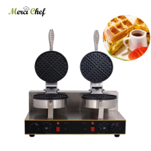 ITOP Electric Waffle Maker Double Heads Machine Non-stick Surface Grill 220V Food Fast Shipping