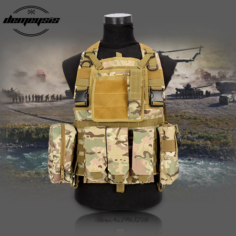 Military Tactical Vests Army Paintball Airsoft Vest Outdoor Hunting Vest CS Wargame Sport Combat Protective Equipment new tactical training gloves half finger army combat military gloves for outdoor sport hunt bicycle cs paintball