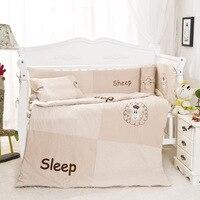 10 Pcs/sets Baby Bedding Set 120x60cm Cotton Animal Cartoon Bedding Set Include Pillow Bumpers Mattress Quilt