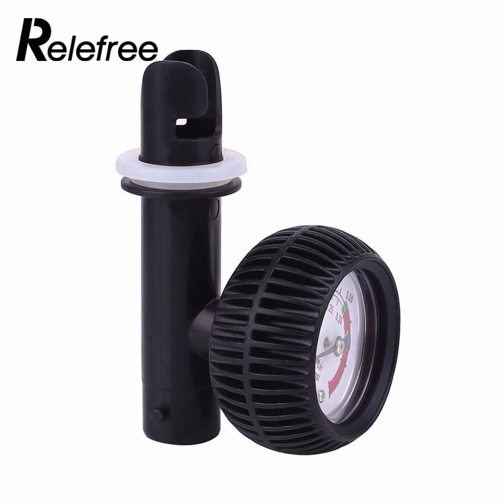 PVC Pressure Gauge Air Thermometer For Inflatable Boat Kayak Test Air Pressure Valve Connector SUP Stand Up Paddle Board Surfing