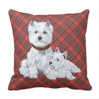 West Highland White Terrier Pai Travesseiro Almofada Da Tampa Do Caso  Double-sided Printing