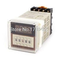 DH48S 2Z AC DC 12V 8 Pins LCD Digital Timer Delay Relay 0 01S 99H99M W