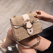 Female Straw Beach Bag Crossbody Bags For Women 2019 Summer Wicker Designer Handbags Ladies Rattan Shoulder Messenger Bag Sac A