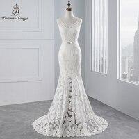 Poemssongs Beautiful Lace Mermaid Wedding Dresses Vestidos De Noiva Robe De Mariage Ball Gown Bridal Gown