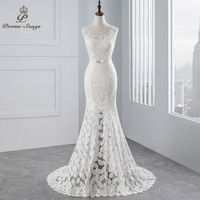 Poemssongs Beautiful Lace Mermaid Wedding Dresses Vestidos De Noiva Robe De Mariage Ball Gown Bridal Gown