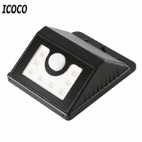 ICOCO Waterproof Solar LED Human Body Induction Motion Sensor Lamp Wireless Outdoor Garden Solar Powered Light Dimmable Lamp