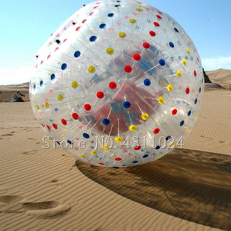 Livraison gratuite et une pompe Zorb Ball 2.5 m balle de Hamster humain 0.8mm PVC matériel Zorb balle gonflable jeu de plein air