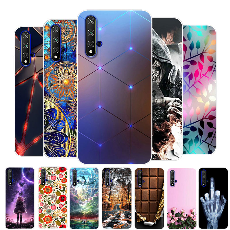 For Honor 20 Case Huawei Honor 20 Case Silicon TPU Soft Back Cover Phone Case On For Huawei Honor 20 Pro 20S Honor20 Lite Bumper