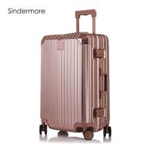 "Moda 8 colores 20 ""22"" 24 ""26"" 29 ""marco de aluminio VS policarbonato hardside maletas equipaje maleta equipaje rodando"