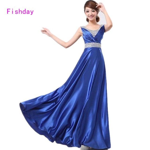 Fishday Evening Gowns Dresses Formal Royal Blue Long Plus Size Turkish  Imported Dubai Junior Mother of the Bride Dresses B40 e2f713e8f96e