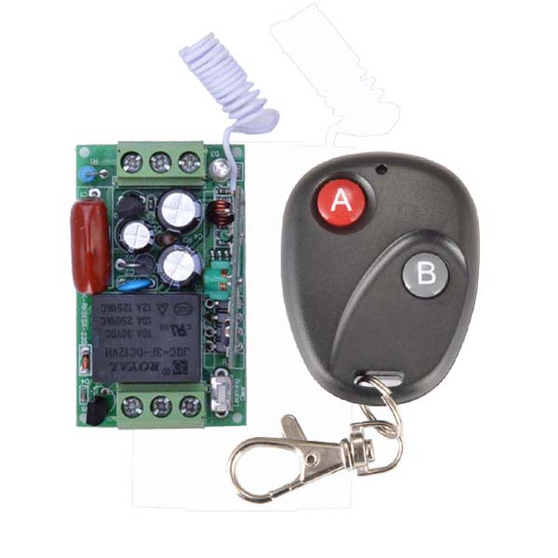 220V 1CH 10A RF Wireless Remote Control Light Switch System Receiver Transmitter M4 T4 L4 Output
