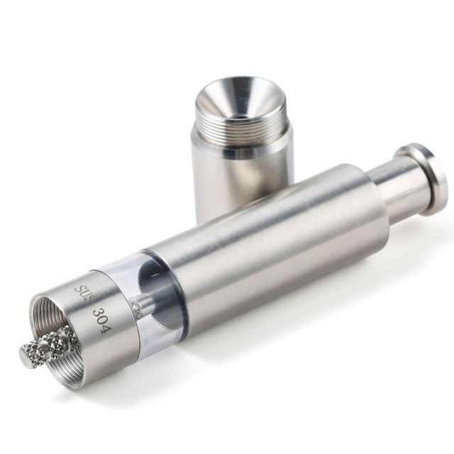 Stainless steel cylindric portable mill grinder