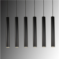 Creative Art Decor LED Pendant Lamp Bar Cylinder Pipe Pendant Light For Bar Kitchen Island Dining