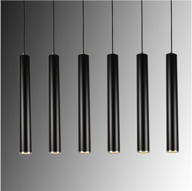 Creative Art Decor Led Lampada A Sospensione Bar Cilindro Tubo Luce Del Pendente Per Bar Isola