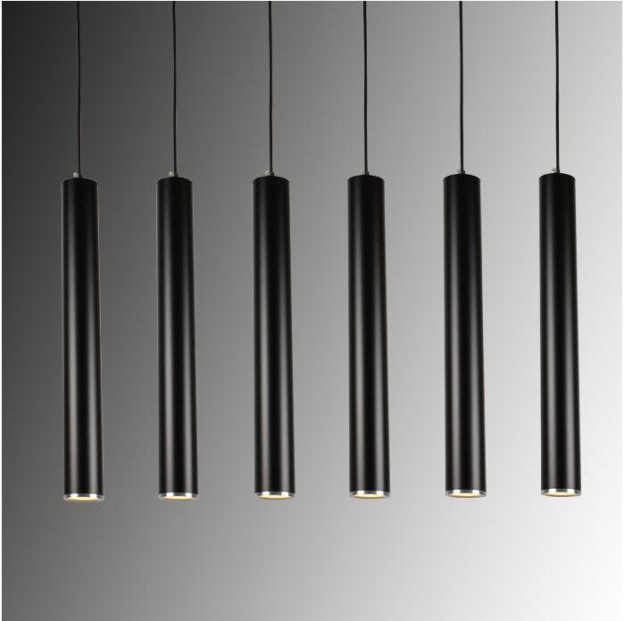Creative Art Decor LED Pendant Lamp Bar Cylinder Pipe Pendant Light For Bar Kitchen Island Dining Living Room Shop Decoration