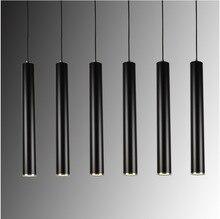 Arte creativo decoración led lámpara colgante bar cilindro tubo colgante de luz para la barra de la cocina isla de comedor sala de estar decoración de la tienda