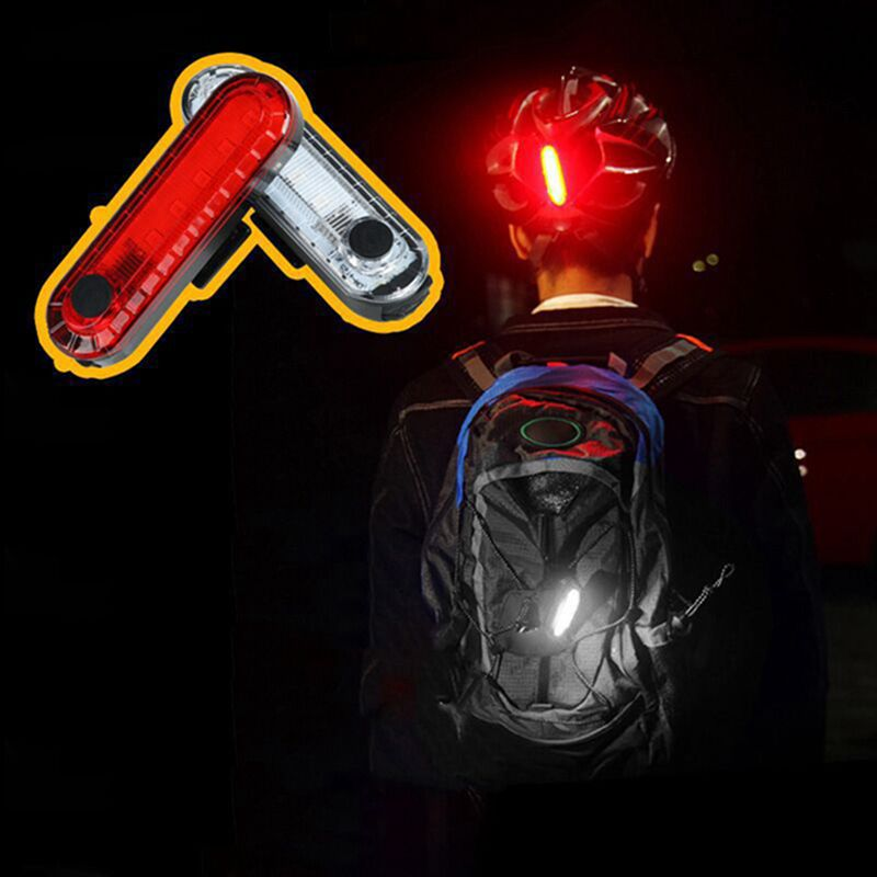 USB Bike Rear Light Waterproof Cycling Taillight Led Rechargeable Riding Rear Light MTB Warning Bike Accessories Bicycle Light