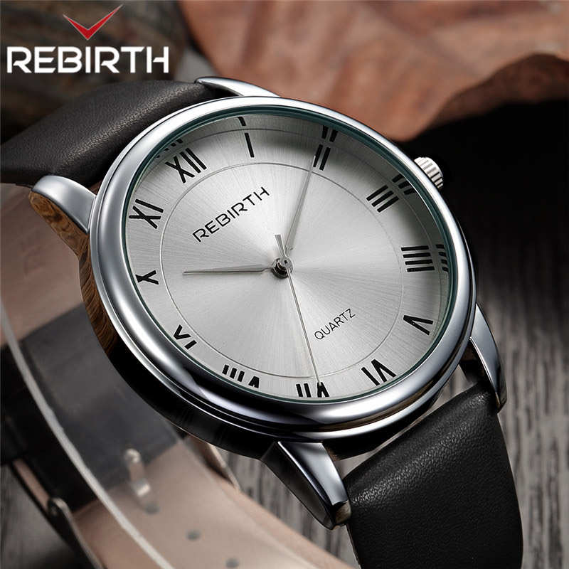 REBIRTH Watch Women Leather Casual Top Brand Luxury Watches Women's Quartz Wrist Watches Female Clock Ladies Dress Kol Saati New dom watches women top brand luxury casual leather quartz watch female clock girl dress wrist relogio montre femme saati lp 205
