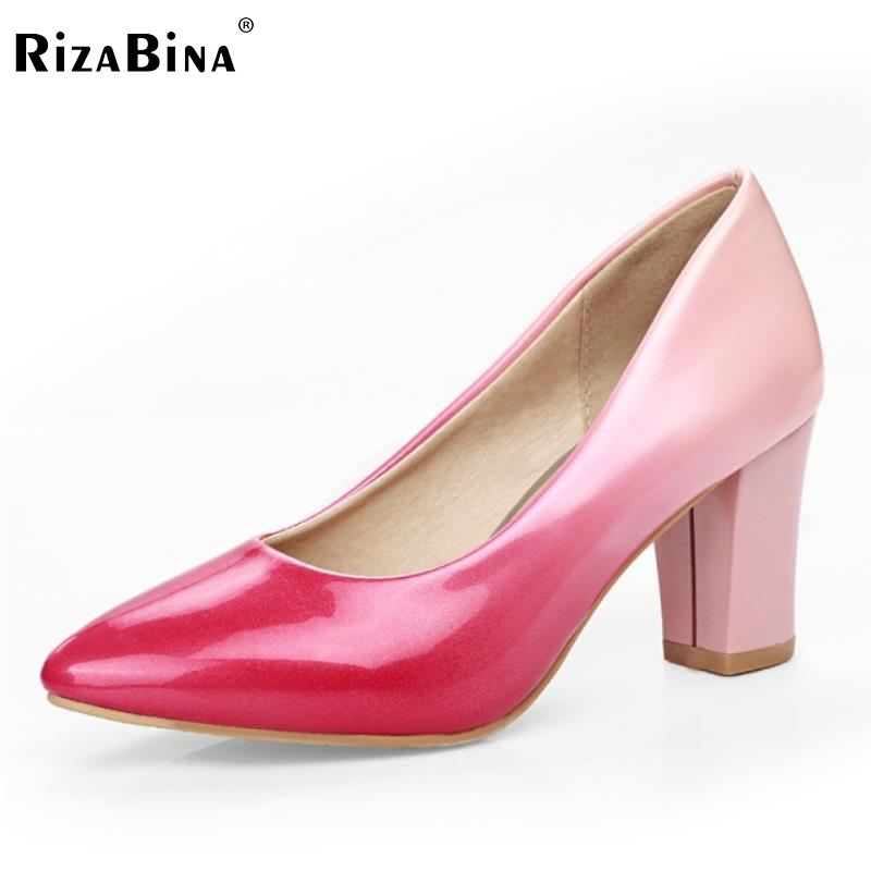 Ladies High Heel Shoes font b Women b font Pumps New Thick High Heels Pointed Toe