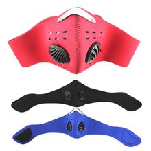 Carbon Dust-proof Cycling Face Masks Mesh Bicycle Bike MTB Cycling Half Face Mask Training Breathable Protective With Filter цены онлайн