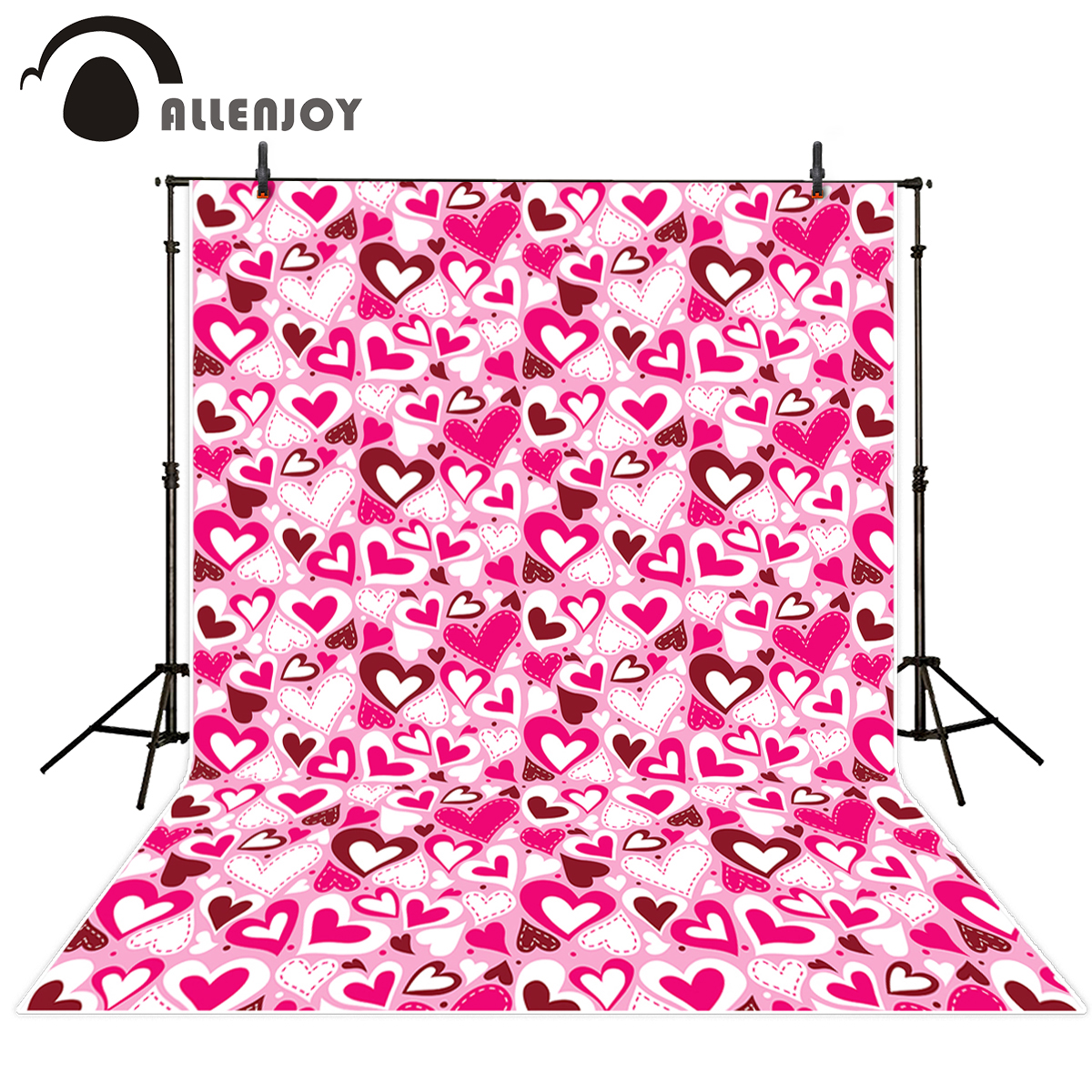 Allenjoy photography backdrops Valentine's Day love pink wedding hearts background for studio photo Funds for wedding allenjoy photography backdrops valentine s day heart love pink bokeh wedding photography background for studio photo background