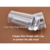 1 novo conjunto 2.8 cm Puro Claro Marshmallow Geléia Nail Art Stamper Scraper Set com Tampa de Silicone Modelo de Selo Unha ferramentas