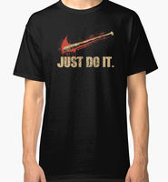 Custom T Shirts Online Crew Neck Men Novelty Short Negan Lucille Walking Dead Just Do It
