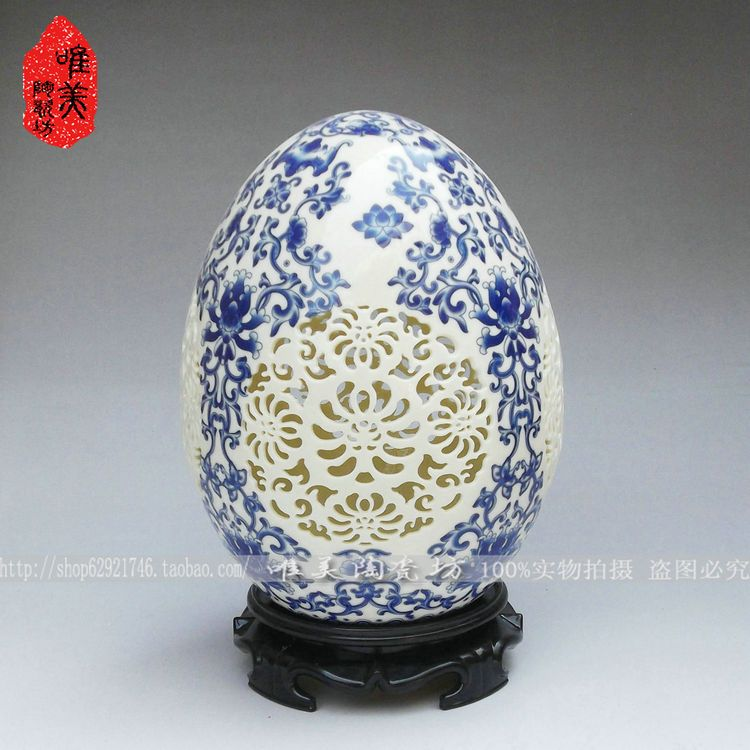 Ceramics cutout flower vase blue and white porcelain vase ivory porcelain vase eggCeramics cutout flower vase blue and white porcelain vase ivory porcelain vase egg