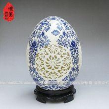 Ceramika wycinanka kwiat wazon niebieski i biały waza porcelanowa kości słoniowej waza porcelanowa jaj tanie tanio Ceramiki i porcelany Nowe klasyczne Postmodernistyczne Wazon na stolik countertop vase