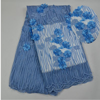 White Color New Design African 3d Lace Fabric Good Looking French Net Lace Fabric For Wedding