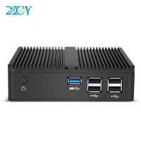 XCY Mini PC Intel Pentium N3510 Windows Linux HTPC Client mince HDMI VGA WiFi 5 * USB ordinateur de bureau Compact sans ventilateur NUC