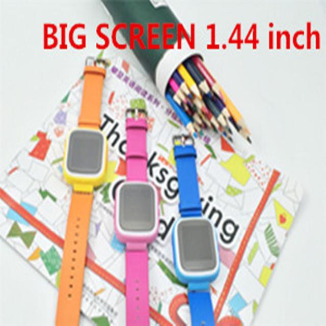 2016 kid gps smart watch relógio de pulso dispositivo de chamada sos localização rastreador para Kid Safe Anti Perdido Monitor Do Bebê Presente Q80 PK Q50 Q60